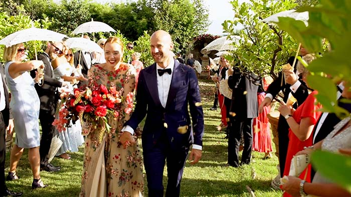 The wedding ceremony, The beautiful bride dress at Villa Catignano wedding Tuscany