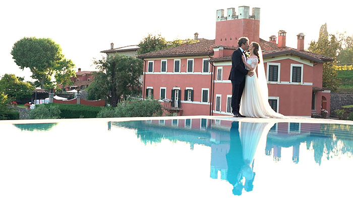 Agriturismo i Cedri wedding video in the Lucca countryside. The view from the pool of Agriturismo I Cedri
