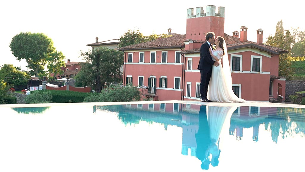 Agriturismo i Cedri wedding video in Lucca Tuscany. The view from the pool of Agriturismo I Cedri.